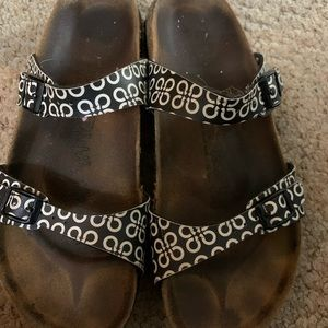 Birkenstock Black And White Pattern